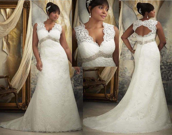 Vestidos de boda para mujeres morenas
