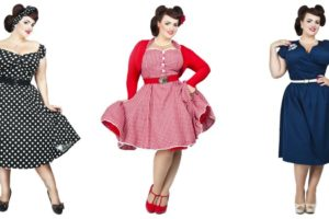 Vestidos en tallas grandes al estilo pin up
