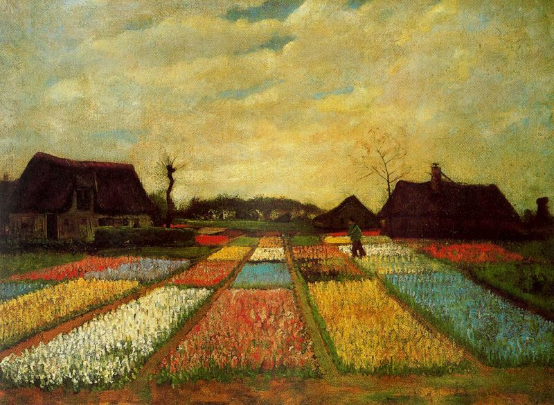 Campo de tulipanes de Van Gogh, una foto de sus cuadros florales