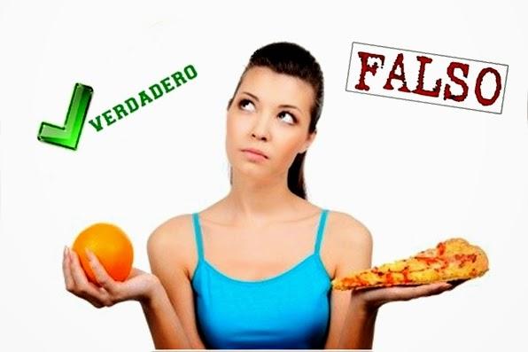 Mitos más populares sobre hacer dieta