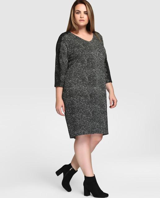Vestidos Talla Grande temporada invierno - vestidos grises y negros