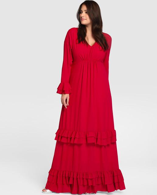 Vestidos Talla Grande temporada invierno - vestidos rojos