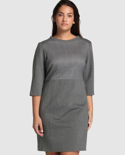 Vestidos Talla Grande temporada invierno - vestidos grises