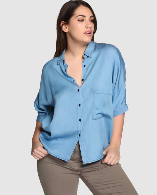Outfit Couchel Primavera 2017 - blusa azul cielo