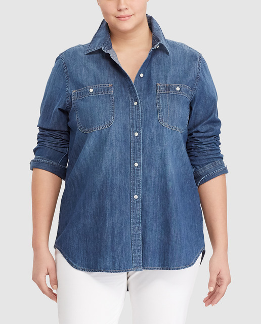 Casual Denim Tallas Grandes - blusas denim