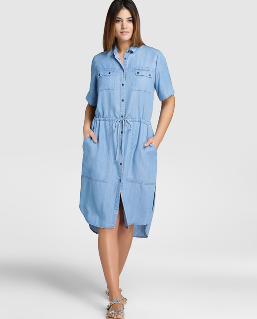 Casual Denim Tallas Grandes - vestido denim