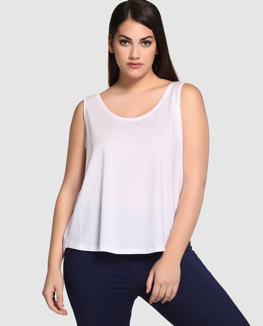 Tops y Camisetas de Couchel tallas grandes - top blanco tallas grandes