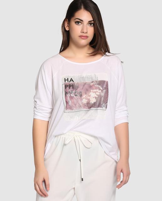 Tops y Camisetas de Couchel tallas grandes - camiseta blanca