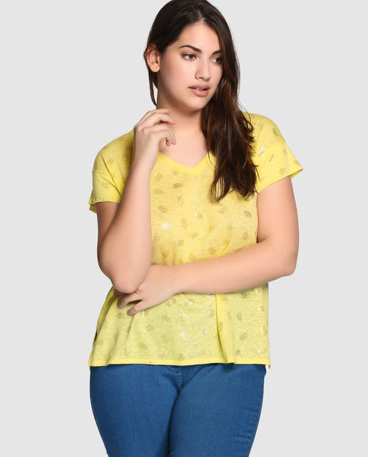 Tops y Camisetas de Couchel tallas grandes - camisetas amarillas