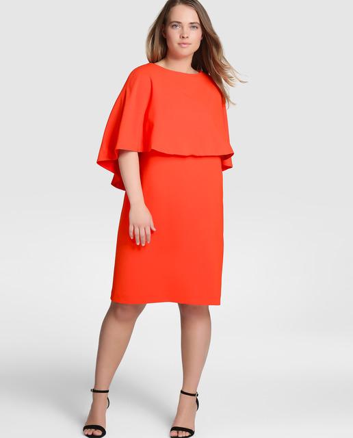 4 outfits para una cena romántica para mujeres de talla grande - vestido naranja