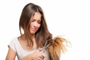 cabello maltratado