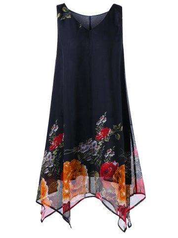 Vestidos de Playa Tallas Grandes - vestido negro con flores tallas grandes