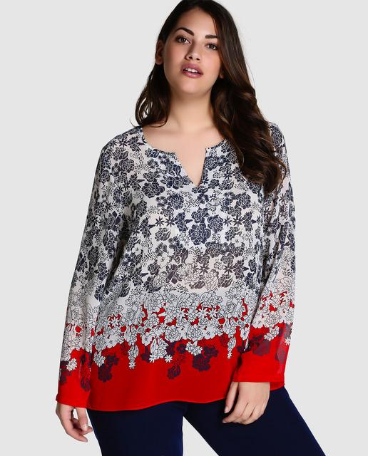 Descuentos de hasta el 50% en Antea Plus - blusa estampada