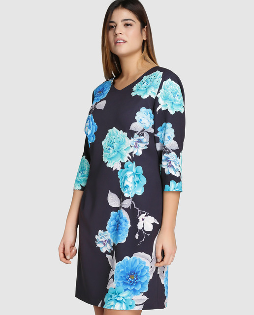 Descuentos de hasta el 50% en Antea Plus - vestidos de flores talla grande
