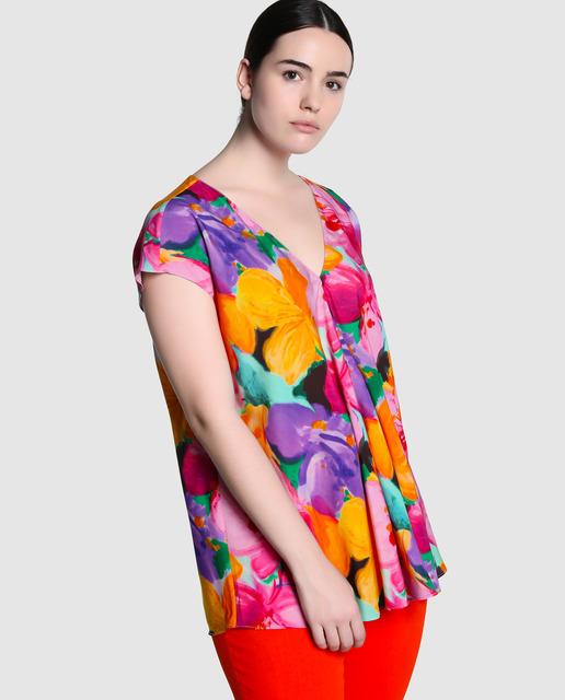 ¿ Conoces las prendas forma Siluetas de El Corte Inglés ? - blusas estampadas tallas grandes