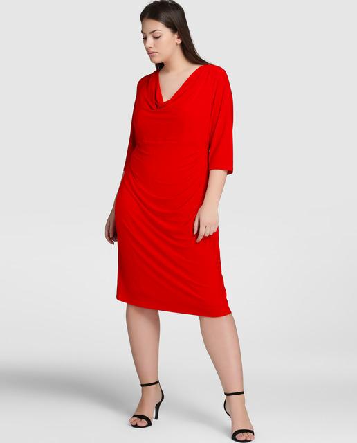 ¿ Conoces las prendas forma Siluetas de El Corte Inglés ? - vestidos rojos tallas grandes