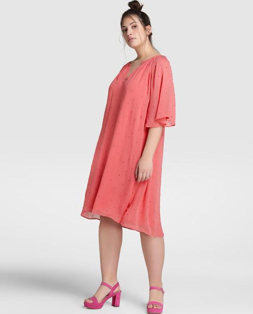 5 Vestidos de Rebajas tallas grandes - vestidos rosas mujer