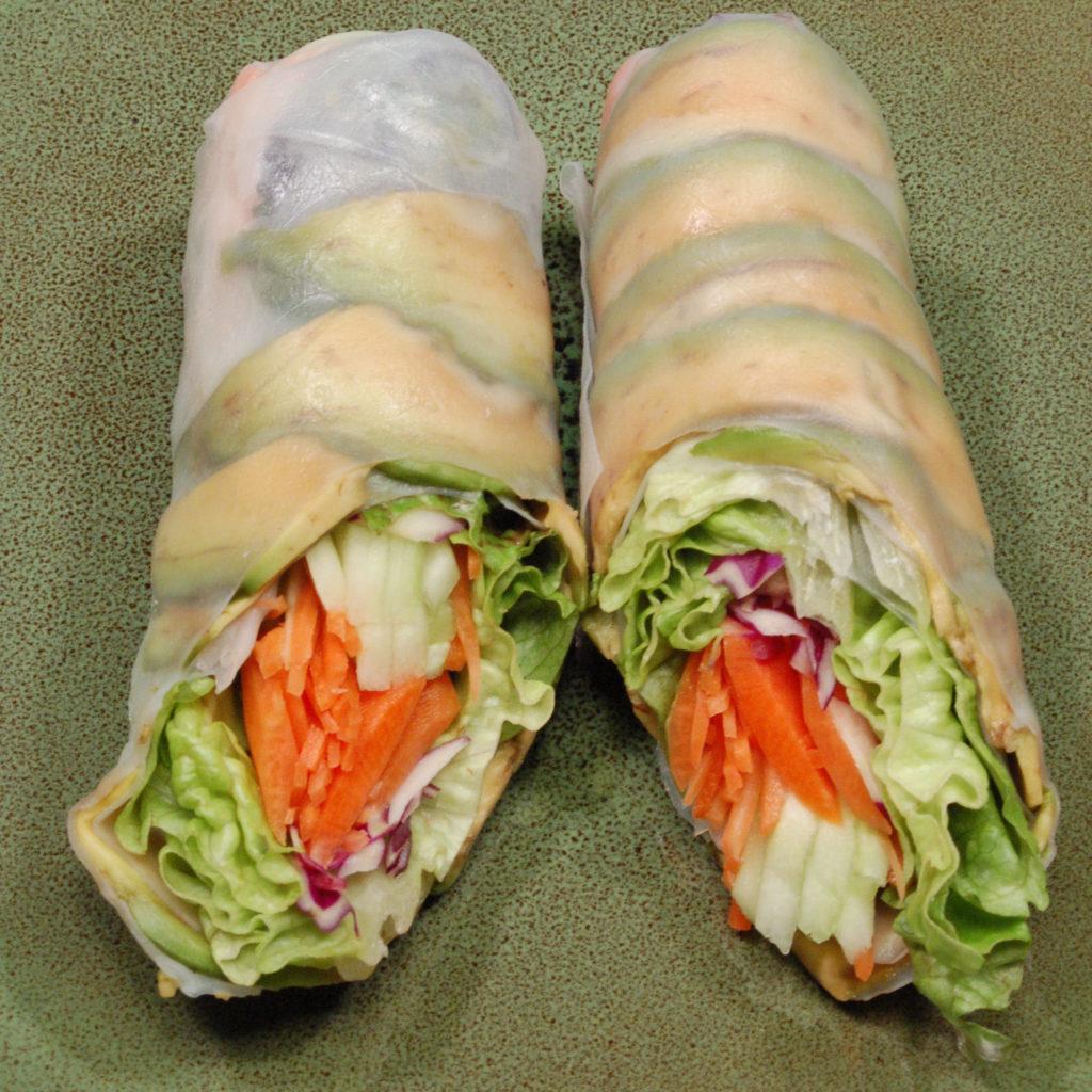 Ejemplos de bocadillos - wrap vegetal light