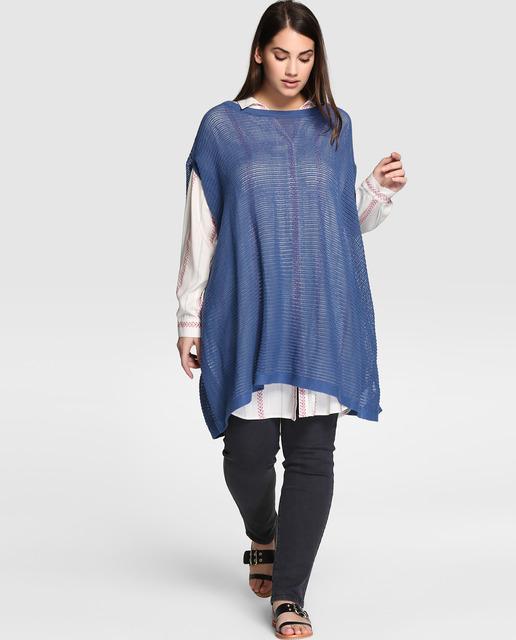 Aprovecha el 70% de descuento Final Rebajas El Corte Inglés - jersey azul talla grande