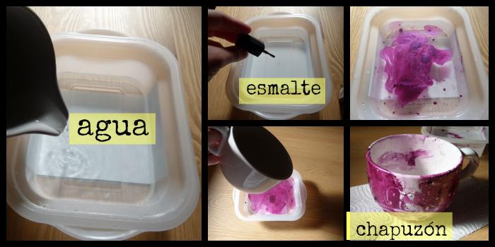 esmalte para decorar tazas