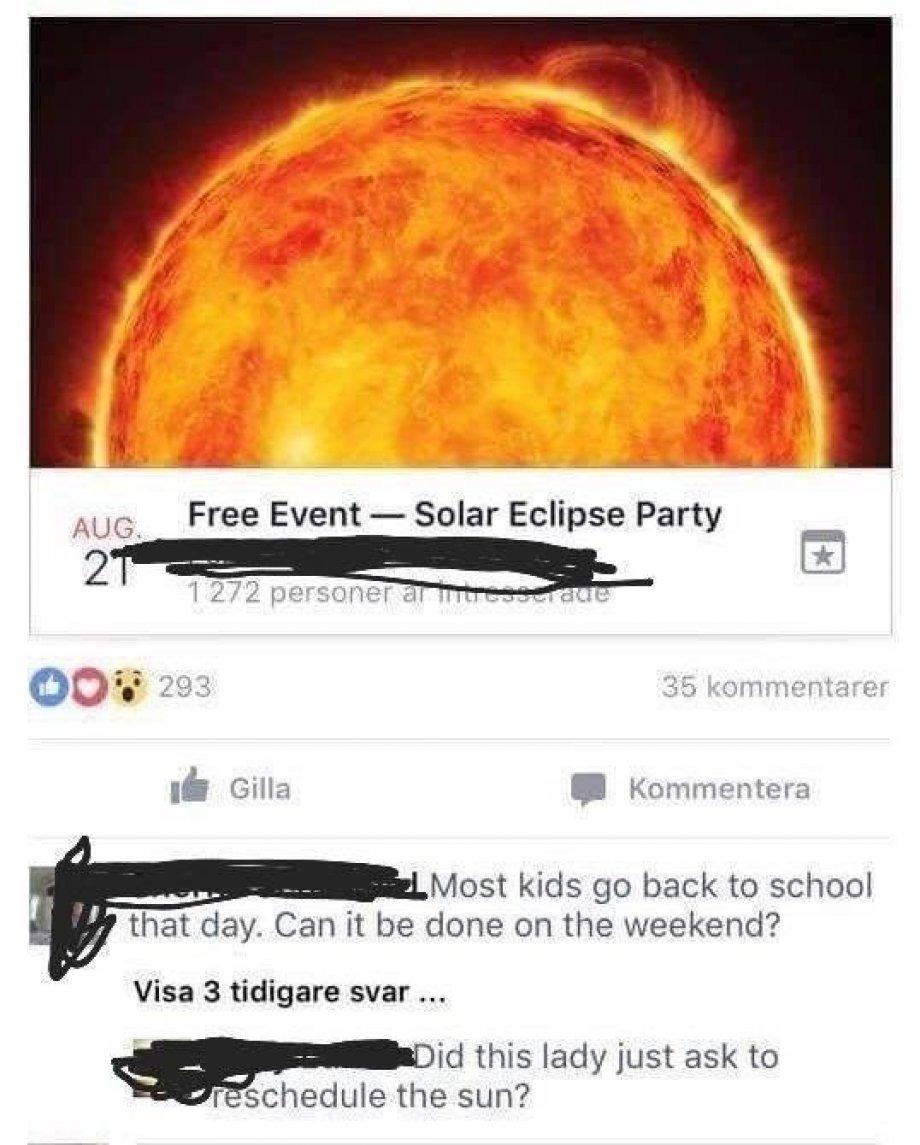 meme sobre el eclipse