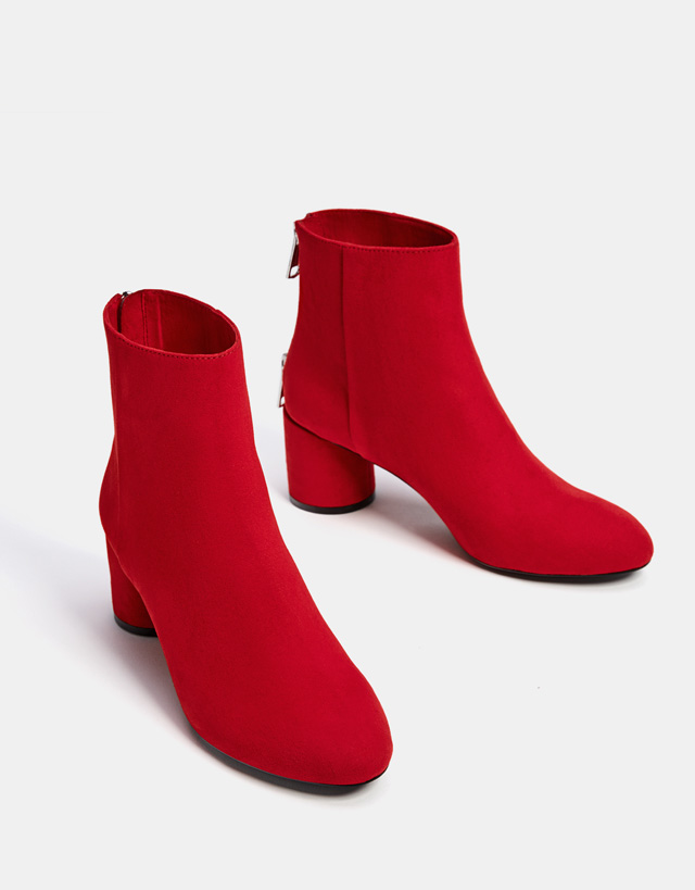 Botines estampados para tallas grandes tendencia - botines rojos
