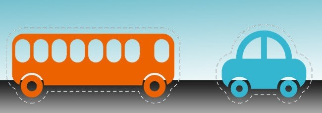 auto vs transporte