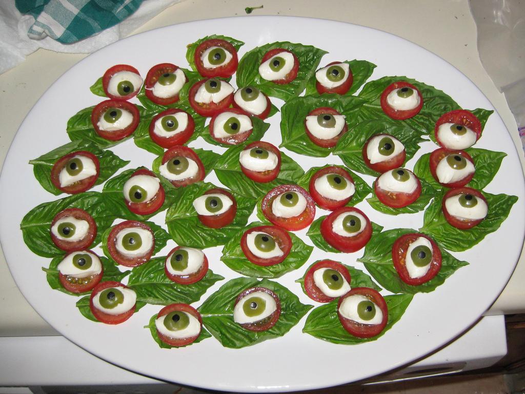 Snacks y recetas de Halloween - ojos de Halloween