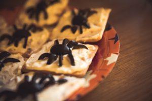Snacks y recetas de Halloween - galletas araña