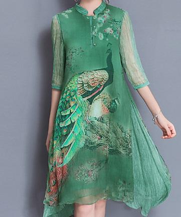 Vestidos talla grande estampados asiáticos