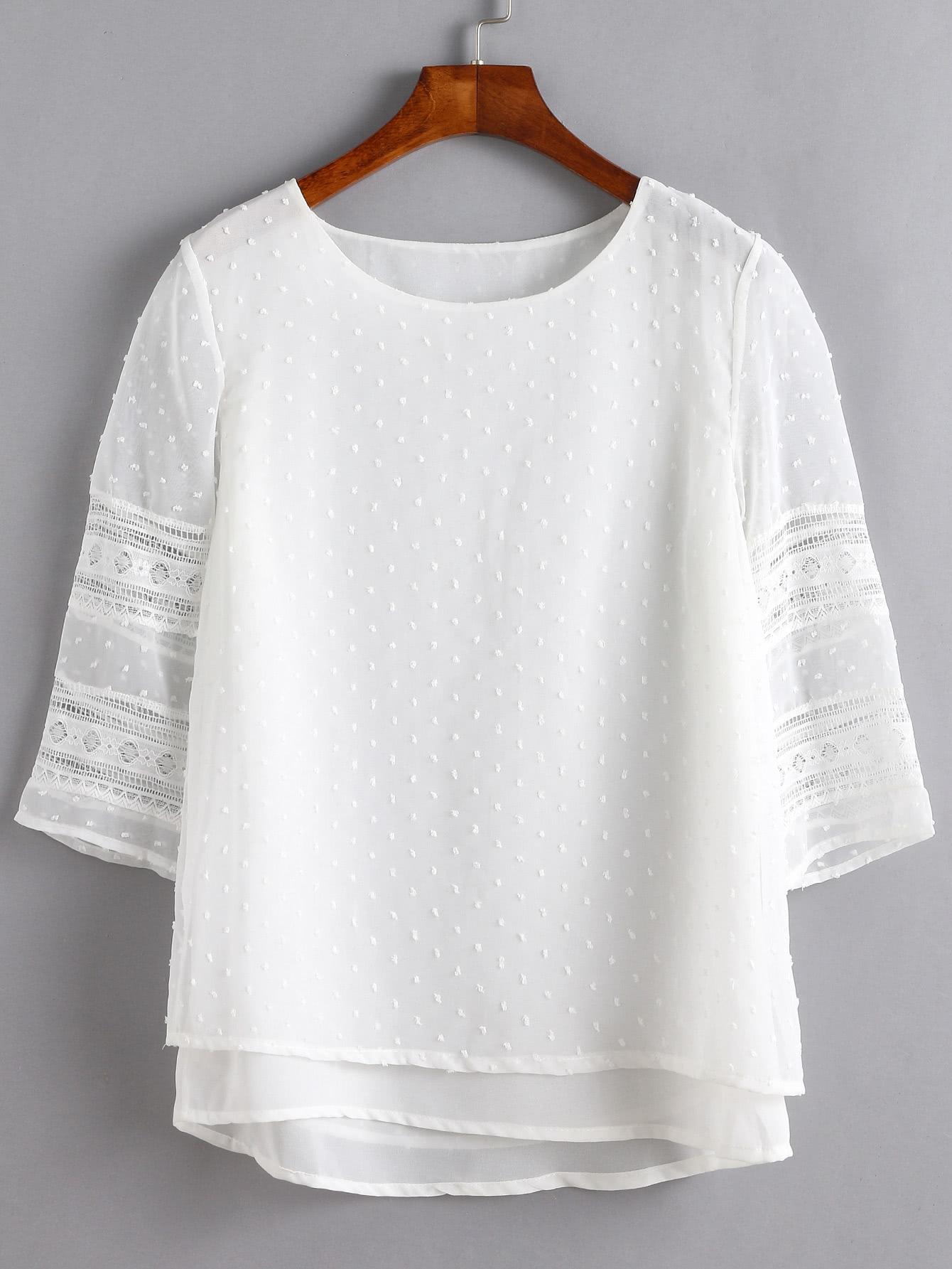 Blusas Tallas grandes por menos de 15 euros en Shein - blusa blanca tallas grandes
