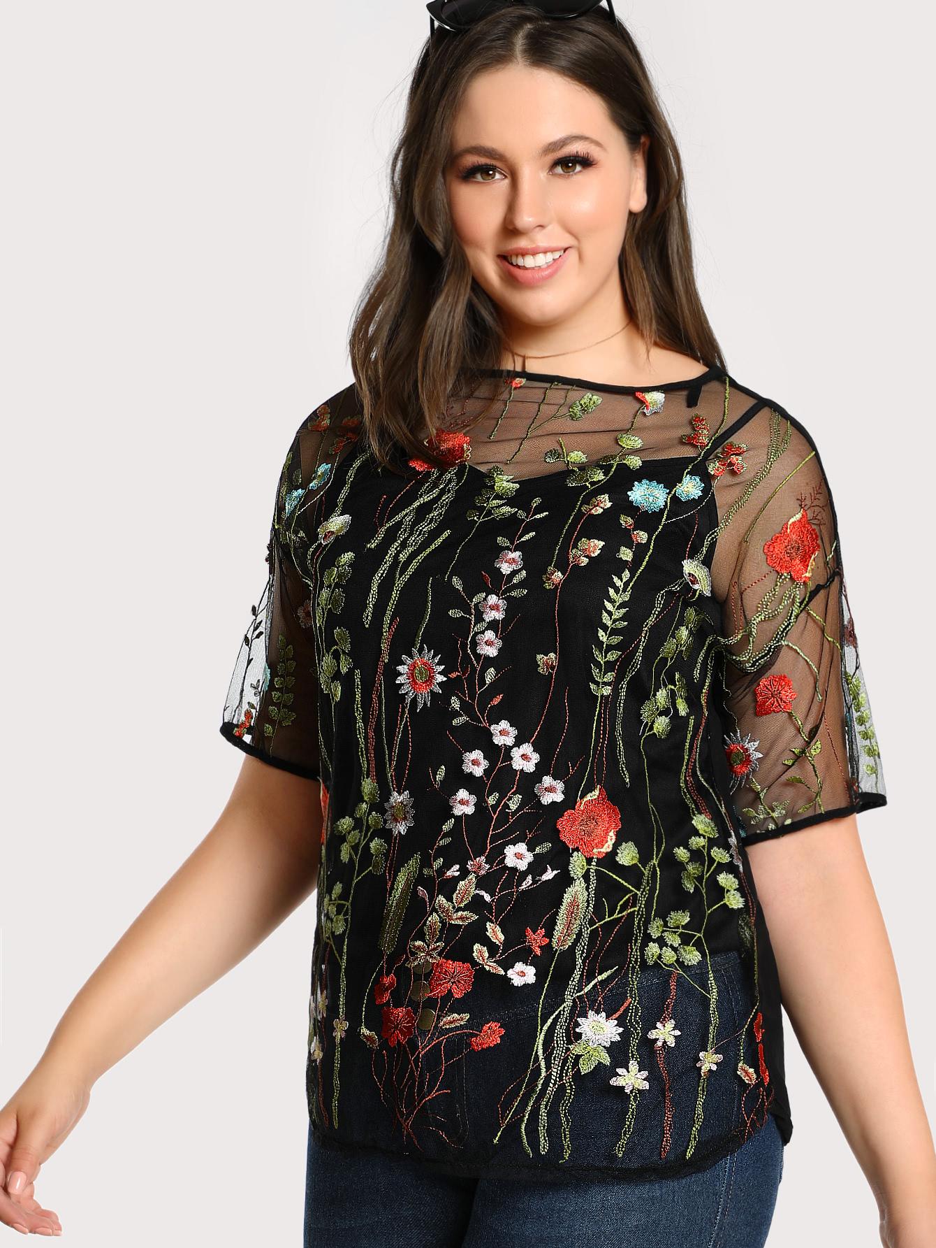 Blusas Tallas grandes por menos de 15 euros en Shein - blusas estampadas talla grande