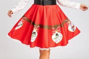 Faldas de Navidad Tallas grandes - falda navidad roja