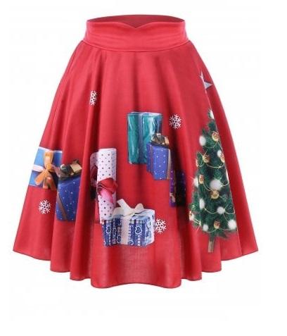 Faldas de Navidad Tallas grandes - faldas rojas navidad
