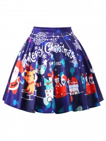 Faldas de Navidad Tallas grandes - faldas navidad en azul oscuro