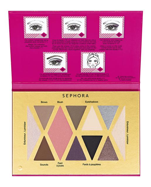 Regalos de Navidad: Estuches de maquillaje ¡por rango de precios! - Sephora paleta sombras ojos