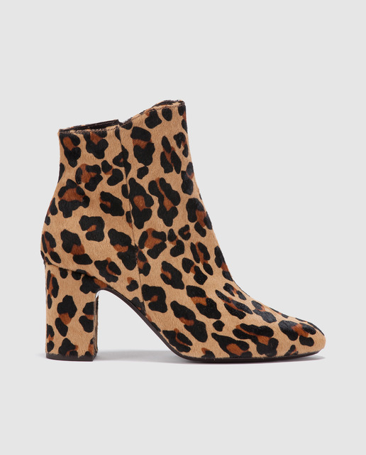 Salones y zapatos para Fin de Año 2017 - botines leopardo