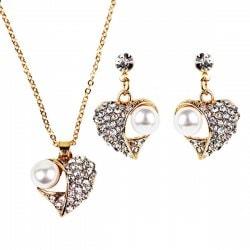 Set de joyas especiales para Año Nuevo ¡Inspírate! - set joyas corazón y perlas