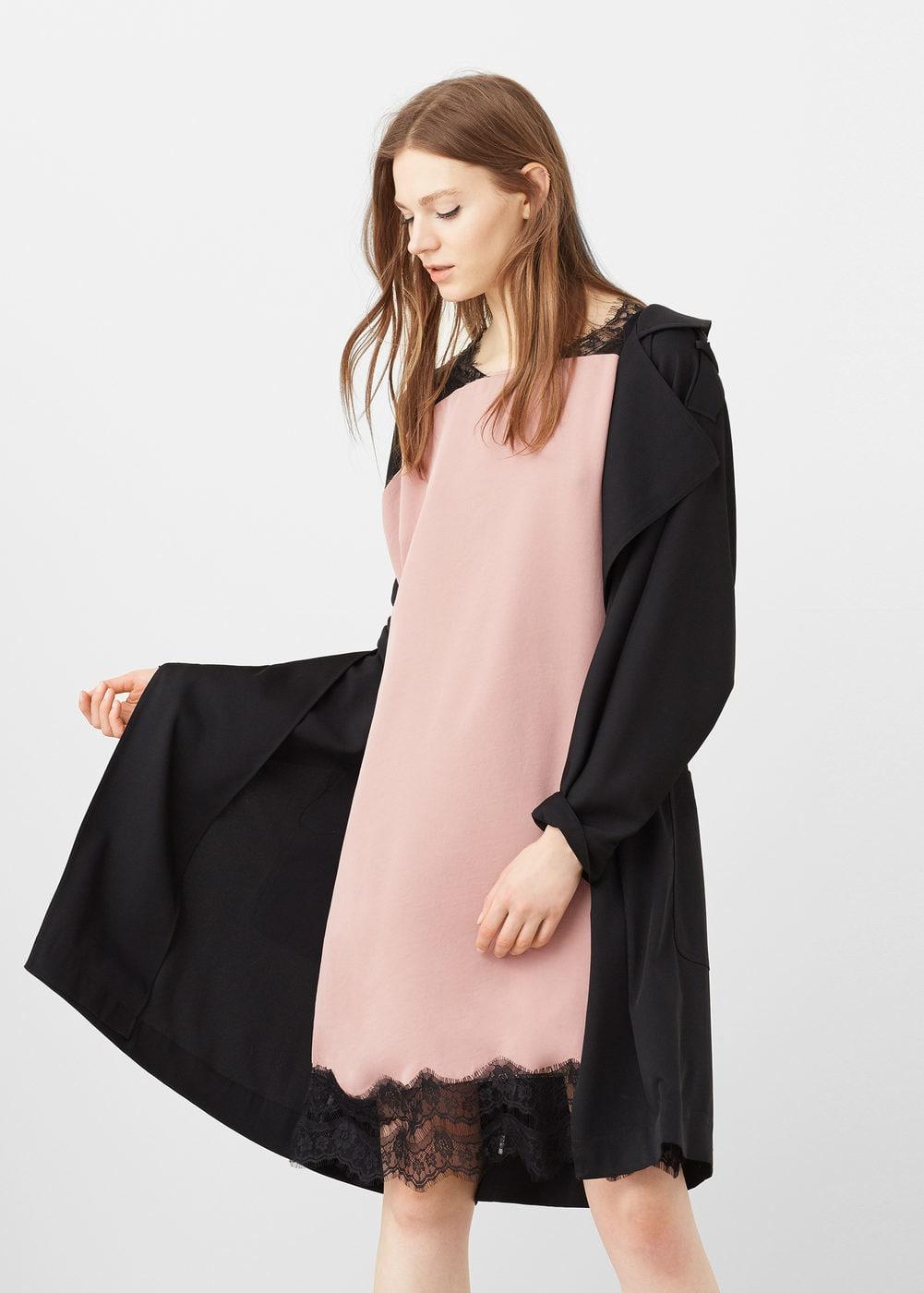 Vestidos Lenceros que podrás encontrar en Rebajas - vestio lencero rosa con encaje