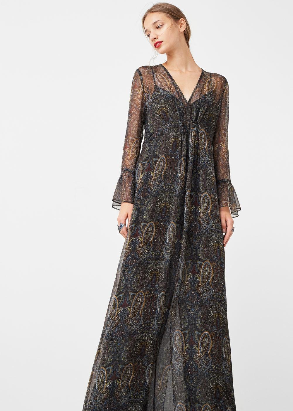 Vestidos bohemios de flores que sí deberás comprar en las rebajas - vestido flores largo