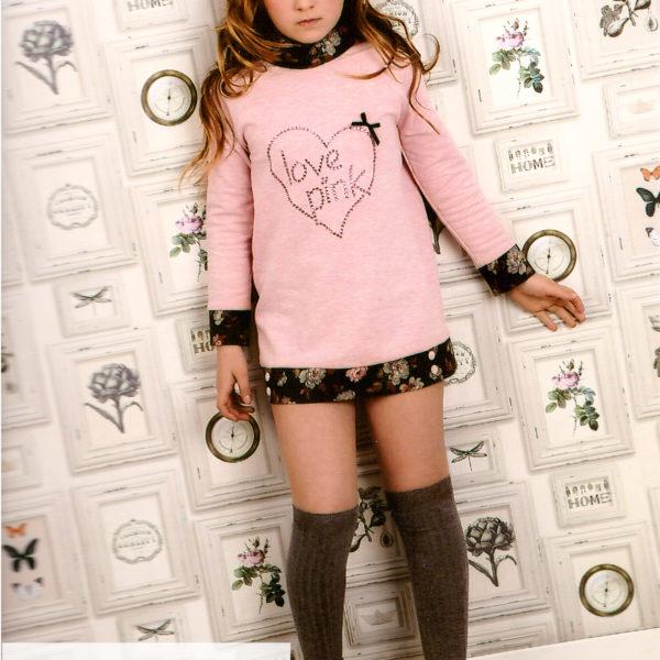 Moda infantil - sudaderas vestido para niñas