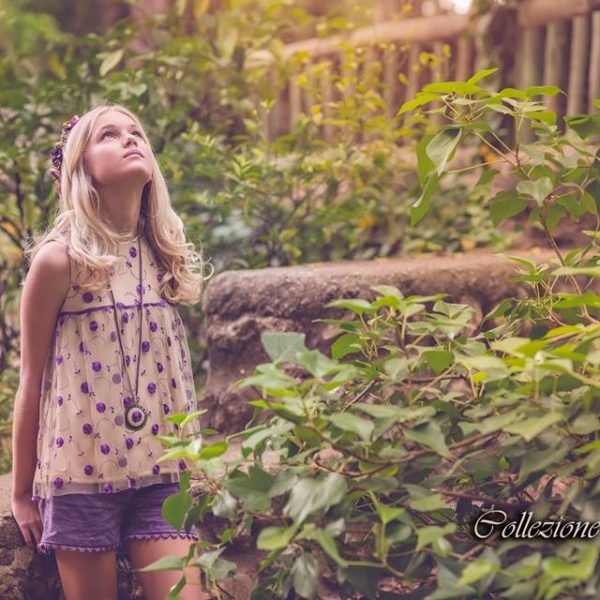 Moda infantil - blusones sin manga para niña