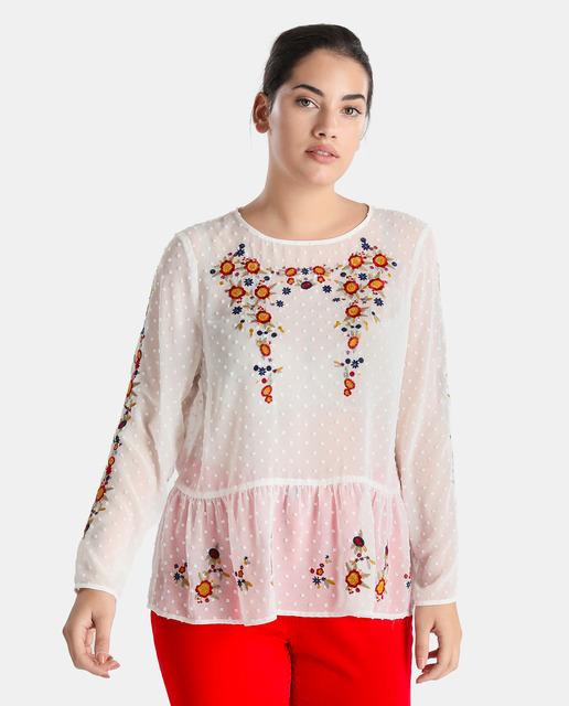 Adelanto Nueva Temporada Moda XXL Couchel - blusa tallas grandes plumeti