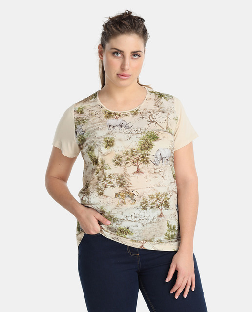 Antea Plus Moda Tallas Grandes Primavera 2018 - blusa tallas grandes estampada