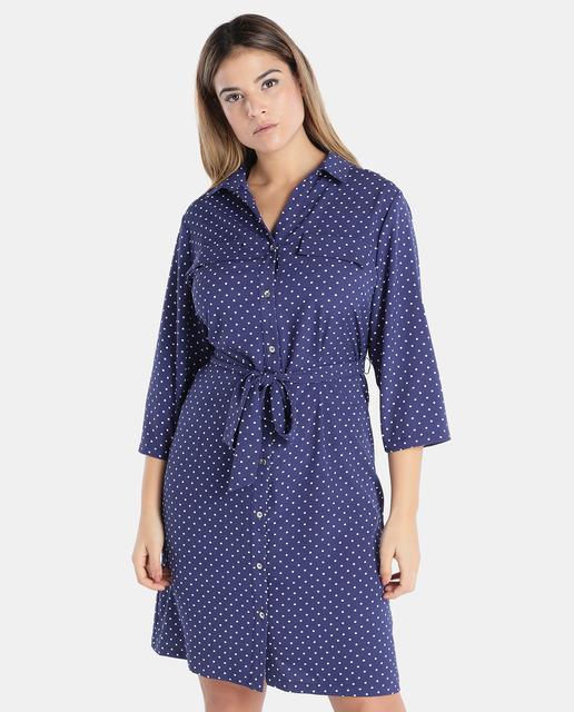 Antea Plus Moda Tallas Grandes Primavera 2018 - vestidos azules tallas grandes