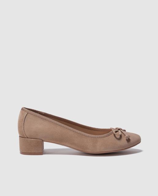 Bailarinas y slippers primavera 2018 - bailarinas beiges de tacón