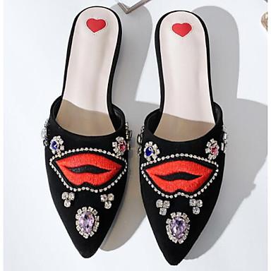 Mules online , el nuevo calzado de moda - mules negras bordadas