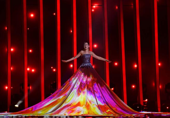 Los vestidos más impactantes de Eurovisión 2018 - elina nechayeva vestido mapping