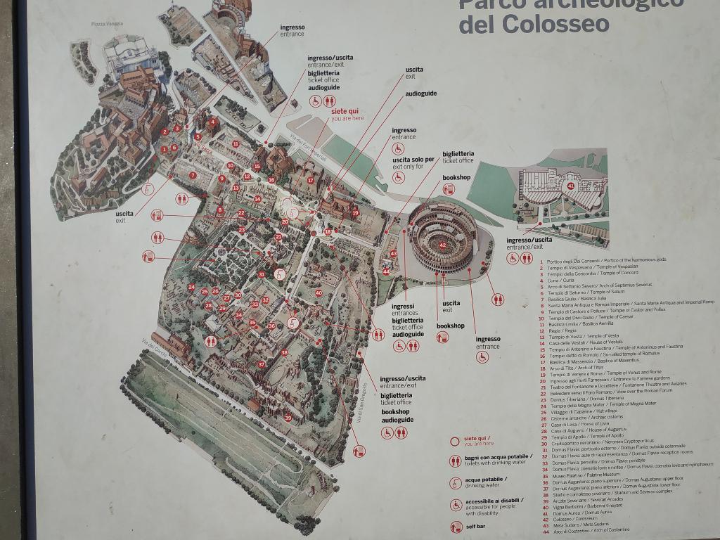 Mapa visita Coliseo Roma