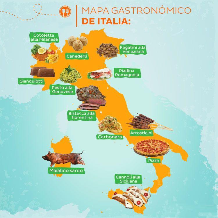 mapa gastronómico de Italia